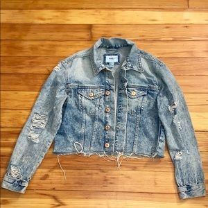 Forever 21 Distressed Demin Jacket